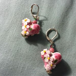 🔥Price Drop🔥 Venetian Floral Glass Earrings